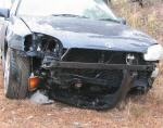 A photo of my car after it got totalled by a rock