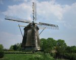 A photo of a windmill in Amsterdam