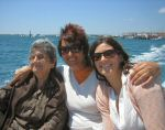 A photo of my Grandma, Aunty and Sister on a boat